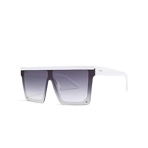 Gafas Deportivas, Pesca Gafas De Golf, Women Oversized Square Sunglasses NEW Fashion Brand Designer Men Vintage Big Frame Eyewear For Outdoor Oculos UV400 c6 White.Gray
