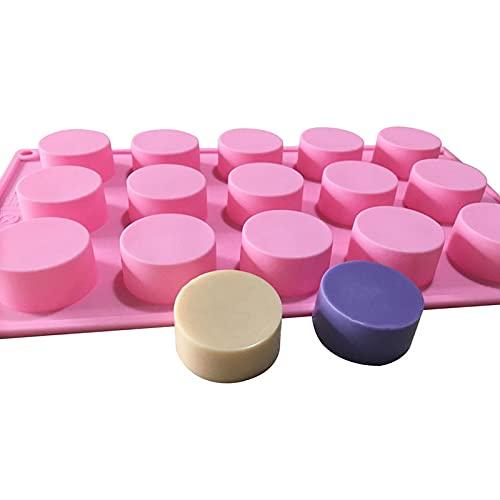 XIAOM Molde de silicona para tarta de 15 cavidades redondas de silicona 3D Craft Molde de vela hecho a mano para fondant Moldes para hornear tartas moldes para hacer