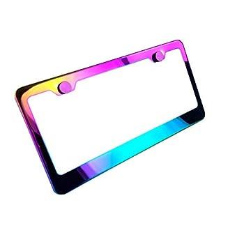 KA LEGEND Polish Mirror Neo Chrome T304 Stainless Steel License Plate Frame Holder Front Or Rear
