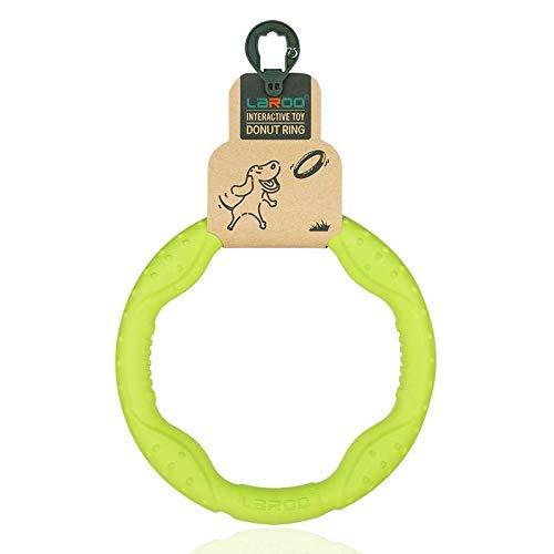 LaRoo Hundefitness-Ring Hundefrisbee, unzerstörbare Float Hunde Flugscheibe Spielzeug, Sommer Pet Training für Mittelgroße und kleine Hunde. (Orange 18 cm) (Grün-30CM/11.81in)
