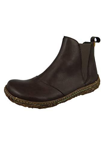 El Naturalista N786T Nido Damen Chelsea Boots,Frauen Stiefel,Halbstiefel,Stiefelette,Bootie,Schlupfstiefel,flach,Vegane Innenausstattung,Brown,EU 37