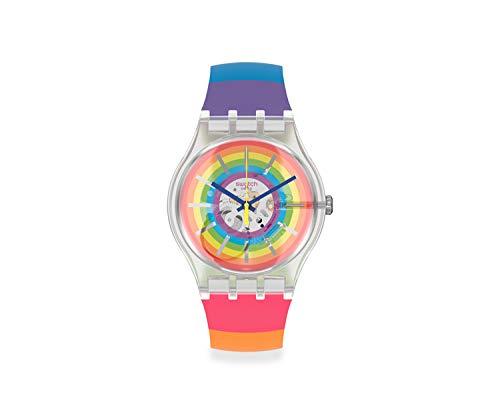 Reloj swatch SUOK148 analógico Multicolor con Correa de Silicona