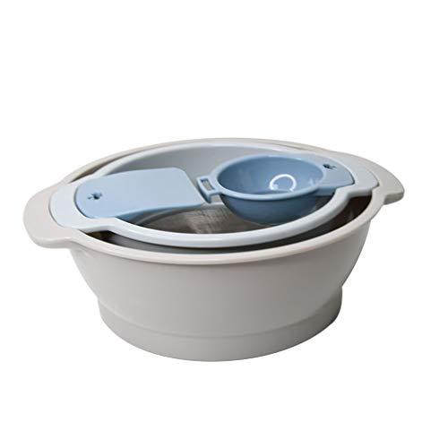 Mingtongli 4pcs / Set amasar la Masa de la Cuenca del pote del Recipiente de Mezcla de harina tamiz colador de Malla del tamiz Separador de yema de Huevo Kit