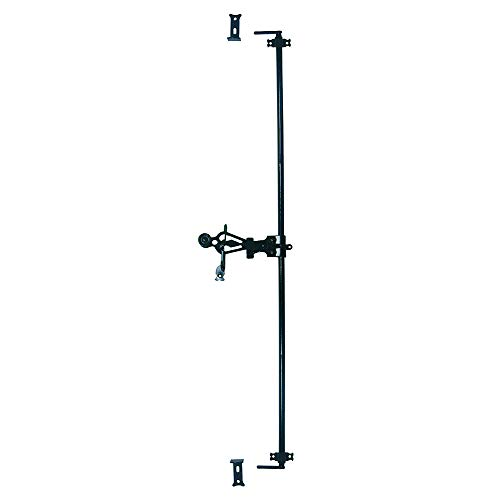 AFBAT - Espagnolette ronde longueur 1500 mm + accessoires - noir - 0703404