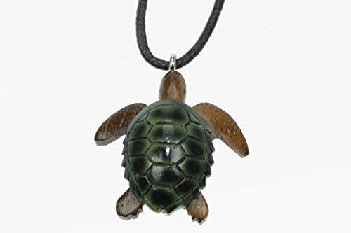 Unbekannt Kette Schildkröte Holzanhänger Ketten Modeschmuck Holzkette Schildkröten Tier Tiere