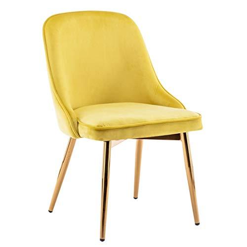 Stoel Velvet Side Designer - Huishoudelijke Eettafel Koffie Restaurant Metalen Frame - Retro Industriële Stijl Y1116