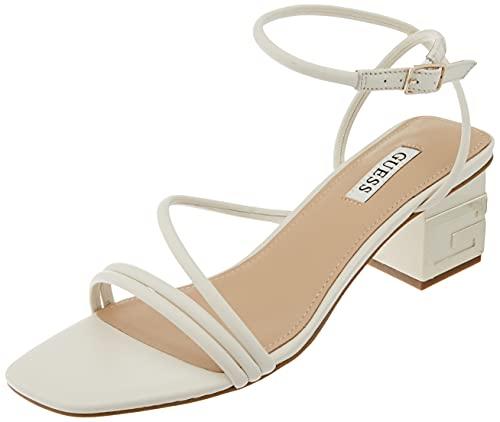 Guess Damen MACRE/Sandalo (Sanda Sandale, cremefarben, 37 EU