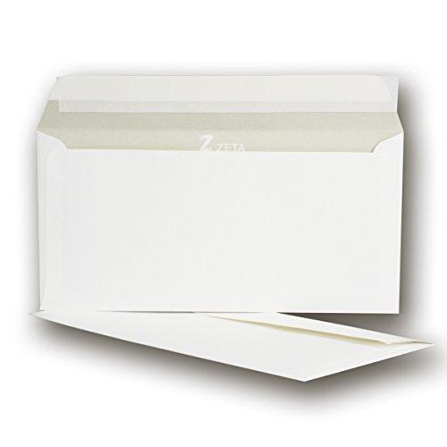 50 Stück - ZANDERS GOHRSMÜHLE Umschläge - 11 x 22 cm - Leinen-Struktur DIN LANG - 120g/m² - für hochwertige Dokumente
