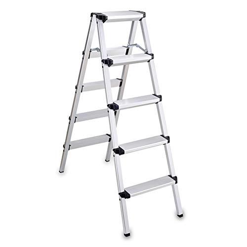 Nevy- Plegable Escalera Aleación De Aluminio Multifunción Escalera Plegable Venta Al por Mayor Impermeable Antideslizante, Escalera De 2, 3, 4, 5 Escalones (Tamaño : D-42x90x121cm)
