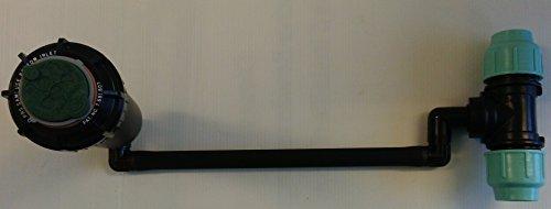5004-PC-PL-SS Arroseur en acier inoxydable avec joint swing, raccord pour tuyau en polyéthylène Rain Bird de 32 mm