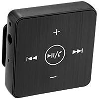 KKmoon Receptor de Audio Bluetooth Inalámbrico Adaptador de Caja de Música con Micrófono Clip de Salida AUX de 3.5 mm Hacia Atrás para el Sistema de Audio Casero Estéreo del Coche del Altavoz del Auri