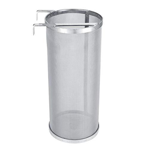 DIYARTS 300 Mikron Edelstahl Bierbrauen Hopfen Mesh Filter Wiederverwendbare Homebrew Brauen Bier Hopfen Spinne Wasserkocher Filter Sieb Mit Haken (10 * 25,5 cm / 3,94 * 10,04 Zoll)