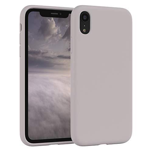 EAZY CASE Premium Silikon Handyhülle kompatibel mit iPhone XR, Slimcover mit Kameraschutz und Innenfutter, Silikonhülle, Schutzhülle, Bumper, Handy Case, Hülle, Softcase, Rosa Braun