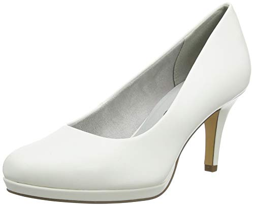Tamaris Damen 1-1-22444-24 Pumps, Weiß (White MATT 140), 41 EU