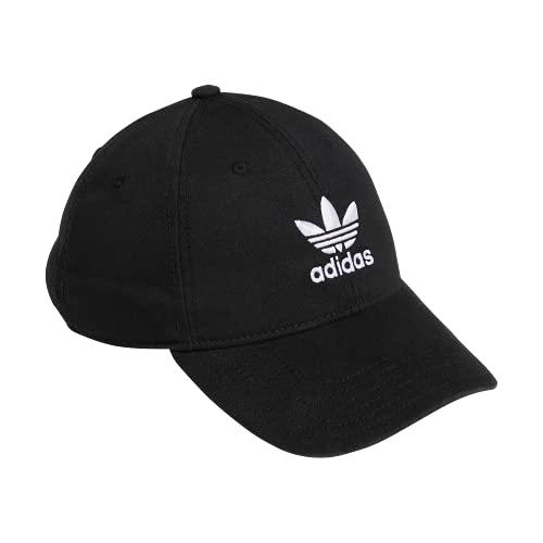 adidas Originals Gorra de Tirantes relajados para Hombre, Hombre, 975950, Negro/Blanco, Talla única
