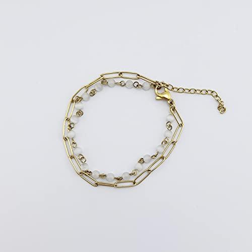 Pulsera de cristal de acero de titanio simple Anillo de pulsera incoloro de moda Adornos de acero inoxidable