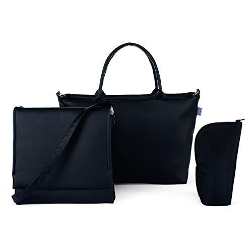 Chicco Bag in Bag - Bolso organizador con cambiador y minibolso en ecopiel, color negro (Pure Black)