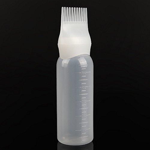 2PC Haarcreme weiche Flasche Haarfärbemittel Flasche Applikator Pinsel Dispensing Salon Haarfärbemittel Färben
