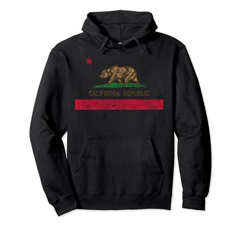 Vintage 1846 California Bear Republic Kalifornien Flagge Pullover Hoodie