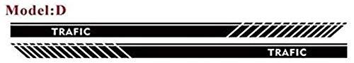 YDL Pegatinas Pegatina De Línea Deportiva del Coche para Renault Trafic Auto Side Side Stripes Falda Decoración Decal Coche Cuerpo Pegatinas Pegatinas Vinilo Calcomanías