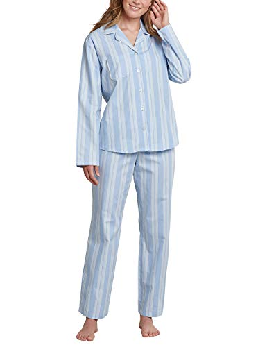 Seidensticker Damen Women Pyjama Long Pyjamaset, hellblau, 046