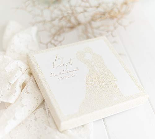 Geldgeschenk zur Hochzeit, Geld Verpackung für das Brautpaar Gold - Hochzeitsgeschenke für Brautpaar PERSONALISIERT Traumpaar