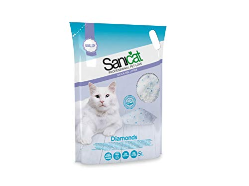 Sanicat Diamonds Arena de Gatos Ultra Absorbente de Gel de Silice - 5L