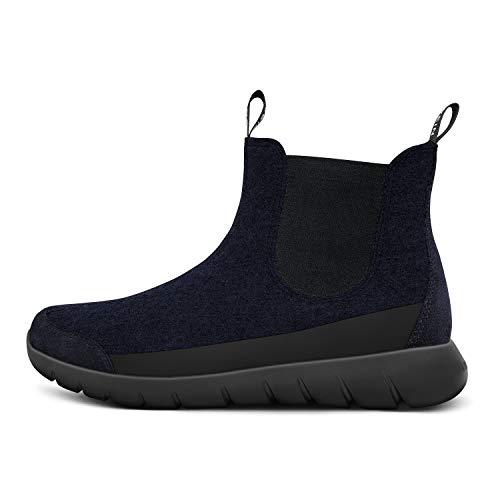 Giesswein Merino Wool Boot DK.Bleu 36 - Bottines Chelsea Respirantes pour Femmes en Laine mérinos 3D Stretch, Bottines pour Femmes, Extra légères et Chaudes