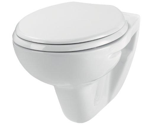 Wirquin Imageo 55719676 Cuvette WC Suspendu Gain DE Place, avec abattant à Fermeture ralentie Inclus