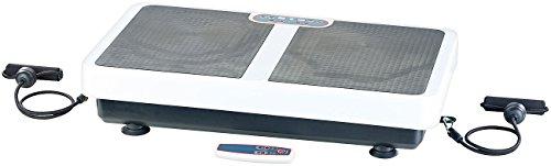 PEARL Sportgerät: Extrabreite Vibrationsplatte WBV-199.OE mit Expandern, 200 Watt (Vibrationsplatte 3D)