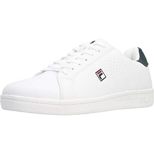 FILA Crosscourt 2 F Low Zapatillas Moda Hombres Blanco - 44 - Zapatillas Bajas