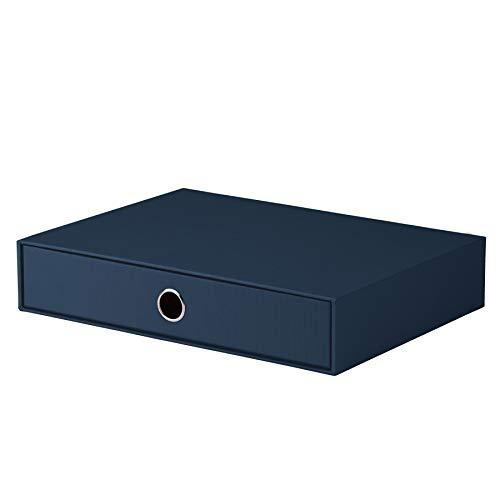 Rössler 1524452900 - S.O.H.O. Schubladenbox für DIN A4, mit Griffloch, navy