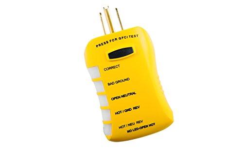 Sperry Instruments HGT6120 Stop Shock GFCI Stromkreis-Messgerät, HGT6520