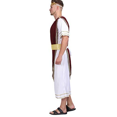SOIMISS Júlio César Terno Do Carnaval Outfit Cosplay Adereços Homens Gladiador Romano Set Traje para O Dia Das Bruxas Adereços Partido Do Disfarce Audacioso Vestido Up Partido (Cores
