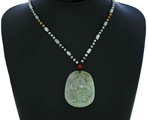 JL Paire de colliers certifiés en Chine Grade A Nature Hisui Jade Fortune Pixiu