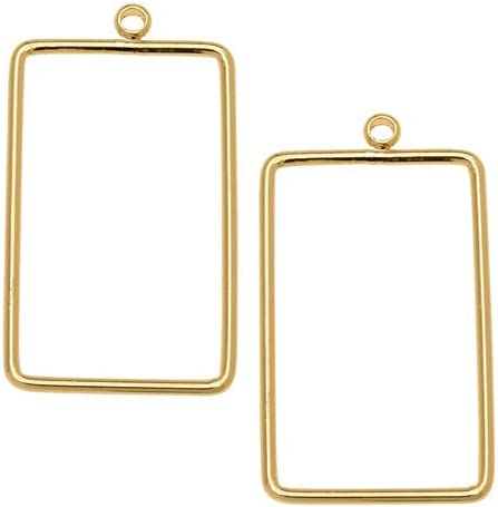 Classic Beadable Outstanding Open Wire Frame for Earrings or Rectangle 18x Pendants