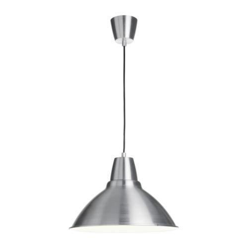 IKEA FOTO Hängeleuchte aus Aluminium (38cm Durchmesser)