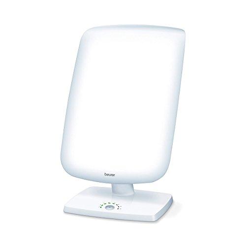 Beurer daglichtlamp TL90, lichttherapielamp met traploze verstelling van de hellingshoek, weergave van de behandelingstijd
