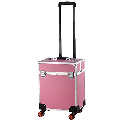 Boîte À Outils De Coiffure Boîte De Rangement De Maquillage Boîte De Rangement Nail Technician Trolley Case Cosmétiques Beauty Trolley Box,A