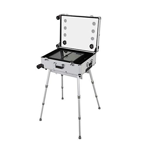 Ys-s Personalización de la tienda Caso cosmético multifunción versión de la pantalla táctil de aluminio profesional con la música MP3 de aleación de caja de herramientas de almacenamiento de la maleta