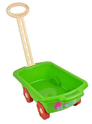 Gartengeräte für Kinder Schubkarre Garten Kinder Spielzeug Sandspielzeug Sandkasten mit Griff Laufkatze (Grün)