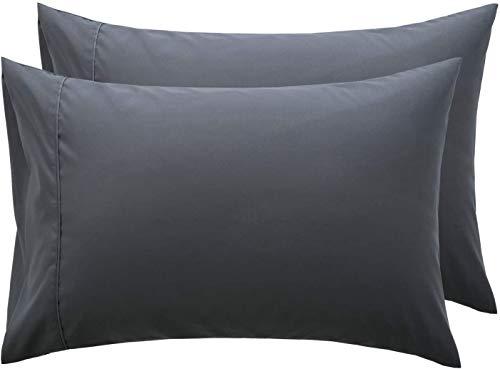 RAYYAN LINEN, Kissenbezug, 100% ägyptische Baumwolle, 1 Paar, Fadenzahl 200, 50x 75cm, schwarz, 2X PILLOWCASES