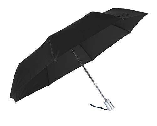 SAMSONITE Rain Pro - 3 Section Auto Open Close Ombrello Pieghevole, 28 centimeters, Nero (Black)