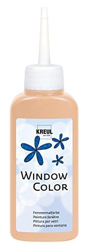 Kreul 42733 - Window Color pfirsichrosa 80 ml, Fenstermalfarbe auf Wasserbasis, mit strukturierter Oberfläche, für Glas, Spiegel, Fliesen und andere glatte Flächen