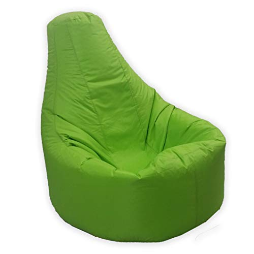 Large Bean Bag Gamer Recliner Outdoor And Indoor Adult Gaming XXL Lime...
