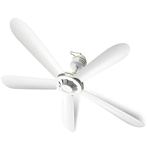Ventiladores de techo, ventiladores de refrigeración para el hogar Breeze Mute, pequeño ventilador de aire frío montado en la pared, 5 hojas, 1 velocidad, para el dormitorio del hogar, blanco