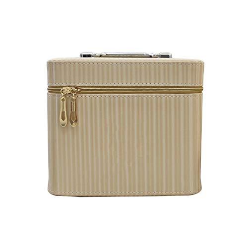 CAOO Mallette de Train de Maquillage de Voyage Portable Sacs de Maquillage Grand Organisateur Professionnel de Mallette Cosmétique, 23 × 16,5 × 19 Cm