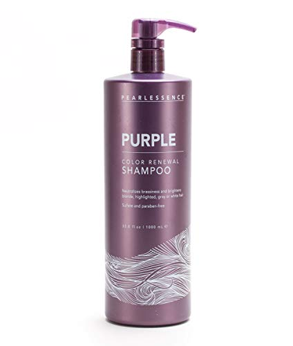 Pearlessence Purple Shampoo - Protect, Balance, and Brighten Blonde, Highlighted, Gray or White Hair | Neutralize Brassiness | Hydrates and Revitalizes | No Sulfates, No Parabens