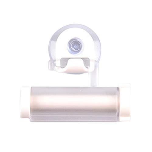 Rtengtunn Zahnpasta-Quetscher, 5 Stück Rolling Toothpaste Dispenser Tube Squeezer Sucker Holder Hanger Gadget - Weiß