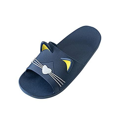 YOUQQI Herren Sommer Badelatschen Hausschuhe Schlappen rutschfest Pantoffeln Gartenschuhe Home Slippers Frauen Plastik Schuhe Indoor-Haus Anti-Rutsch Dusche Badeschuhe Zuhause Schuhe